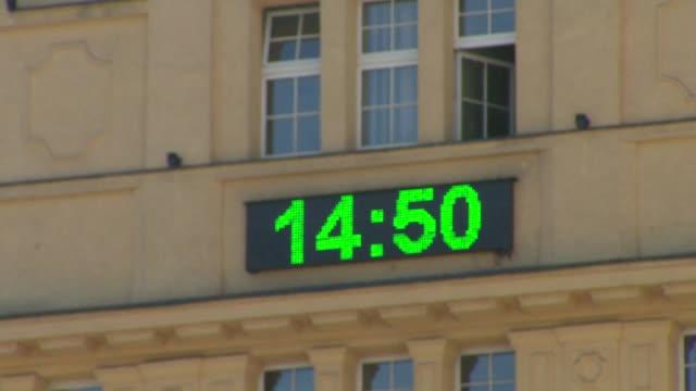 time and temperature on display - 計測道具点の映像素材/bロール