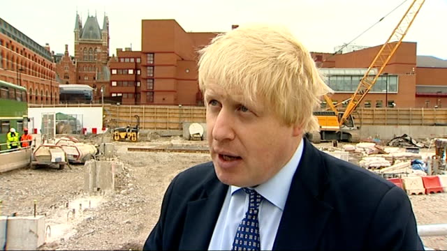 time capsule buried under building site of francis crick institute boris johnson interview sot - francis crick stock videos & royalty-free footage