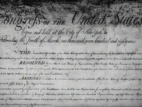 a time capsule of americana - アメリカ憲法点の映像素材/bロール