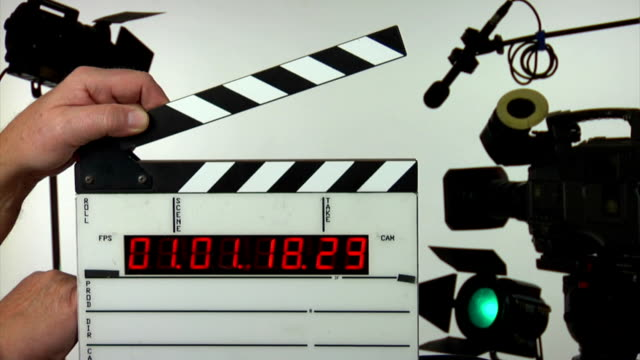 time code slate add your information - studio shot stock videos & royalty-free footage