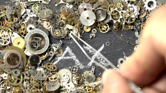 Time Concept Via Clockwork Parts