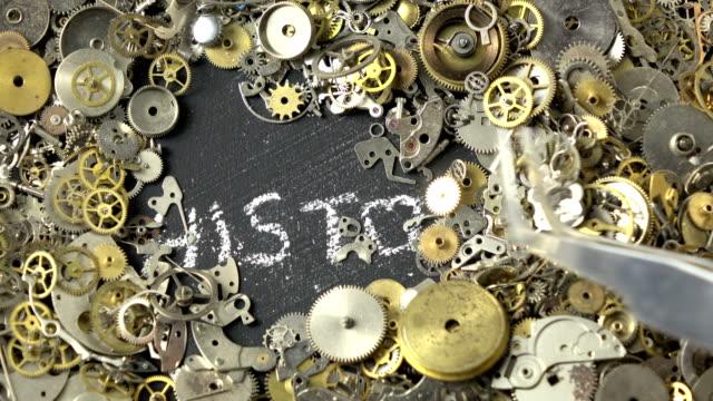 vidéos et rushes de concept de temps par l'intermédiaire de pièces d'horlogerie - selimaksan