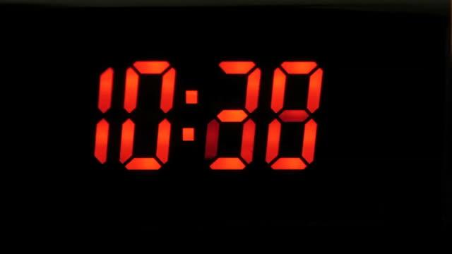 time flies by, twenty four hours - digital clock stock videos & royalty-free footage