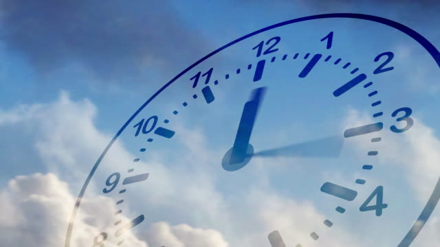 time flies (clock in sky) - deadline stock videos & royalty-free footage