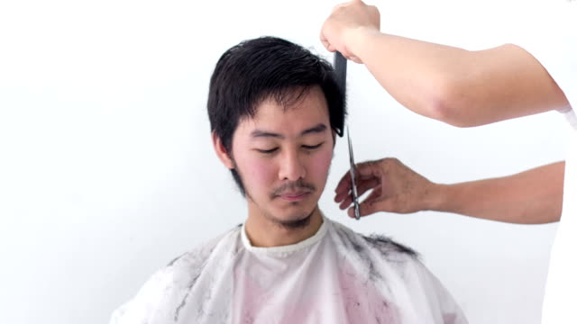 time for change, makeover : haircut time lapse - beauty salon stock videos and b-roll footage