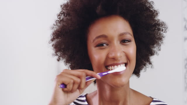 time for clean teeth and fresh breath - brushing teeth stock videos & royalty-free footage