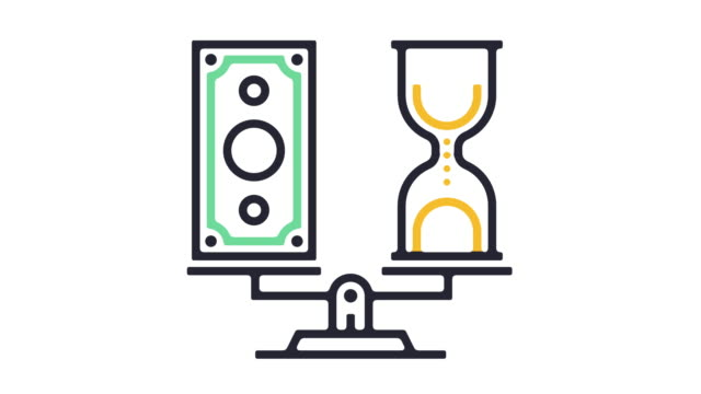 Time is Money Icon Animation