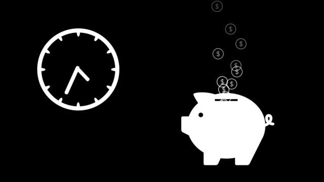 stockvideo's en b-roll-footage met tijd is geld - effectiviteit