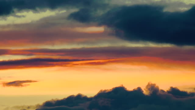 Time lape of the beautiful cloudscape after a sunset in Santa Fe New Mexico