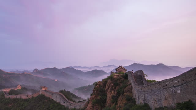 Time Lapes-Sunrise of Jinshanling great wall