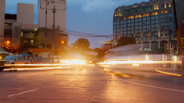 4K Time Lapse 4096x2160 : Tilt shift time lapse of highway traffic downtown Bangkok, Thailand with ProRes 422HQ (Blur content).