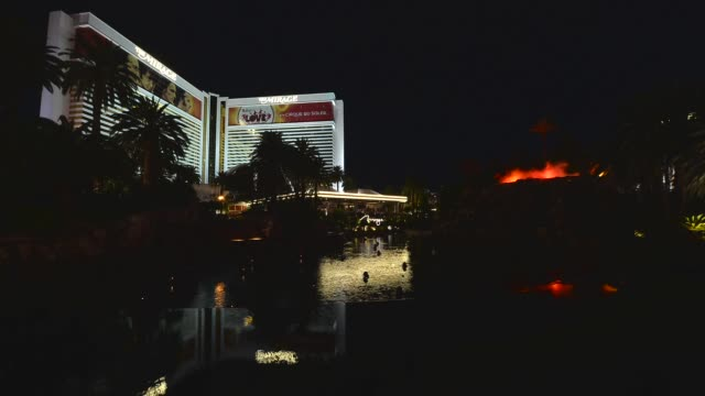 a general view of the volcano at the mirage hotel casino on october 15 2013 in las vegas nevada - casino icon stock videos & royalty-free footage