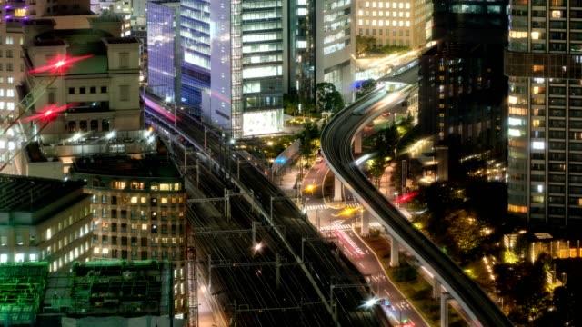 大門市區空中列車執行時間推移鳥瞰 - high street 個影片檔及 b 捲影像