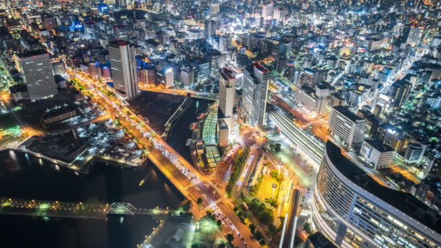 Time Lapse - Aerial View of Tokyo at Night (Zoom Out)