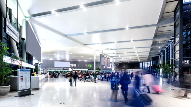 Time Lapse - Airport Departure Lounge