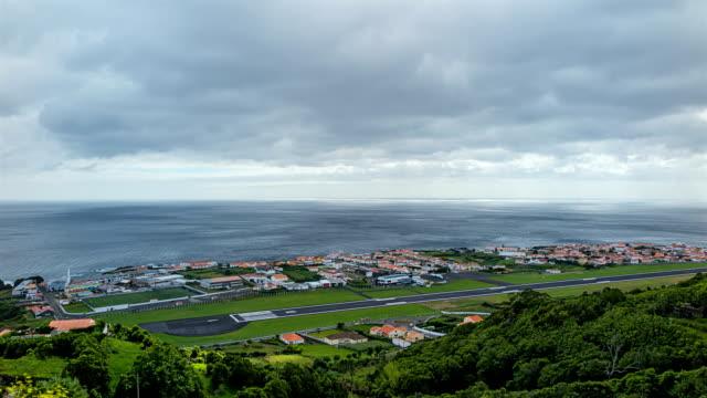 タイムラプス空港、サンタクルス das flores -アゾレス諸島 - アゾレス諸島点の映像素材/bロール