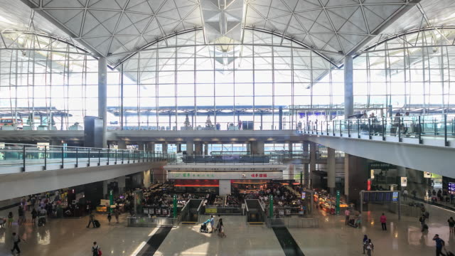time lapse : airport - hong kong international airport stock videos and b-roll footage
