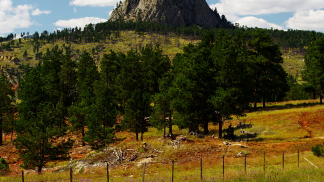 stockvideo's en b-roll-footage met time lapse american national monument devils tower wyoming - wyoming