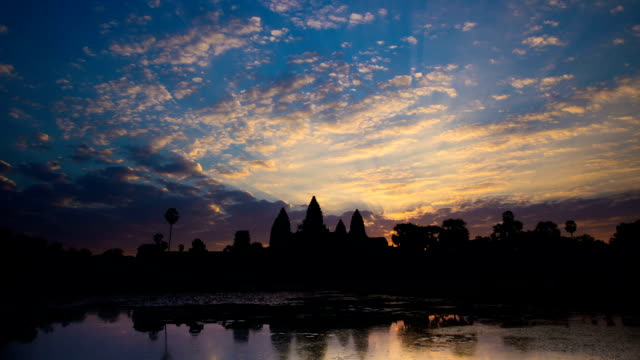 time lapse - angkor wat sunrise - buddha stock videos & royalty-free footage
