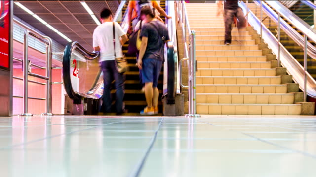 time lapse another people and escalator. - incidental people stock videos & royalty-free footage