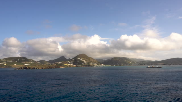 time lapse approaching saint maarten, caribbean - tourist resort stock videos & royalty-free footage