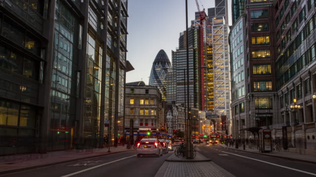 time lapse at financial district of london - busy stock videos & royalty-free footage