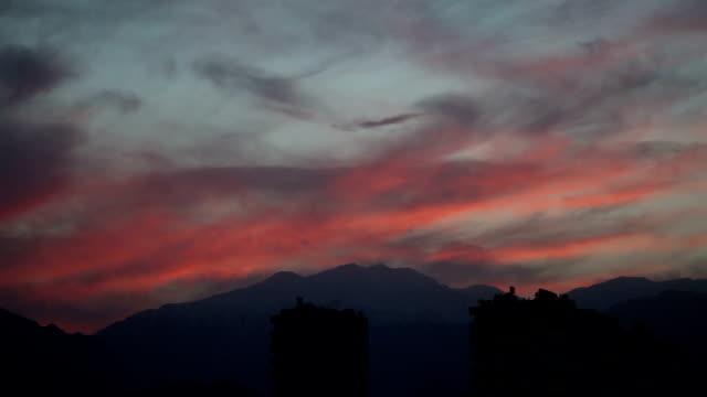 Time lapse at sunset in Antalya, Turkey