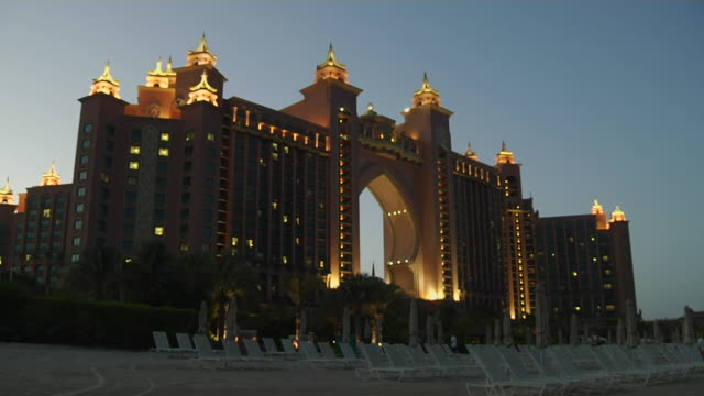 time lapse atlantis dubai united arab emirates - atlantis stock videos and b-roll footage