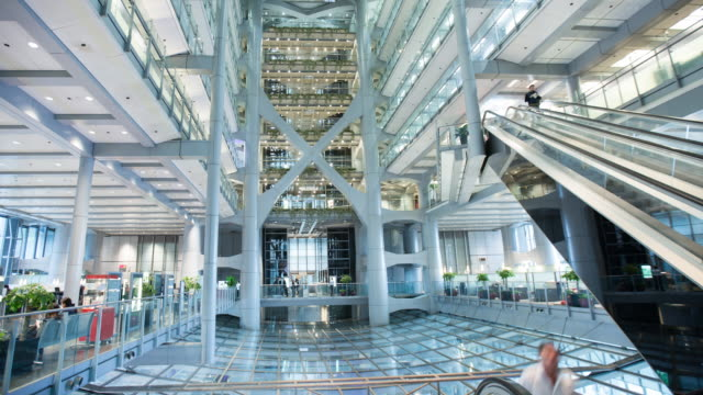 Time Lapse, Atrium of HSBC building in central Hong Kong