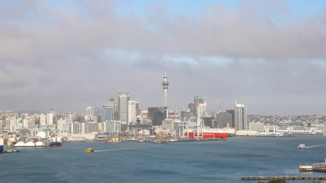 4k time lapse : auckland city view from victoria point, new zealand. - new zealand stock videos & royalty-free footage