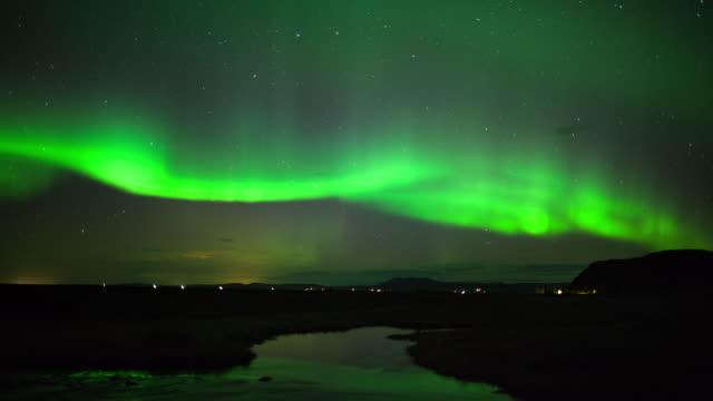 zeitraffer : nordlicht - polarlicht stock-videos und b-roll-filmmaterial