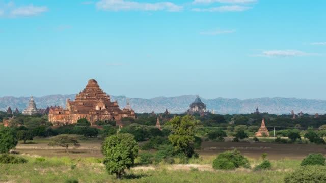 4k time lapse :   bagan temples ,old pagoda in bagan myanmar - myanmar stock videos & royalty-free footage