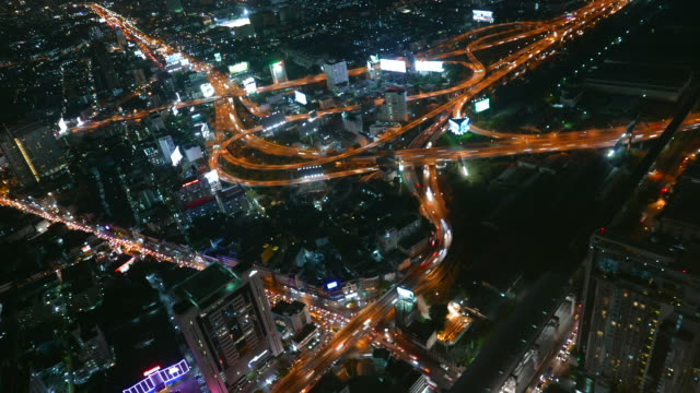 Time lapse bangkok city at night