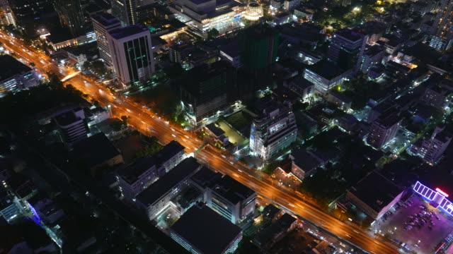 Time lapse bangkok city at night
