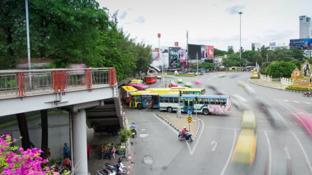 vidéos et rushes de bangkok de laps de temps thaïlande - car