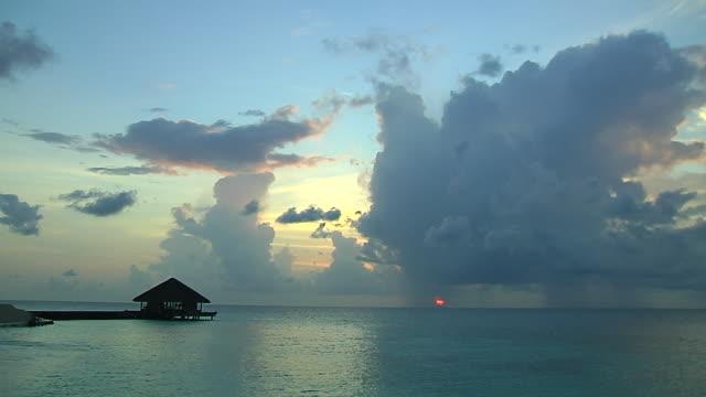 Time lapse beach Male Maldives