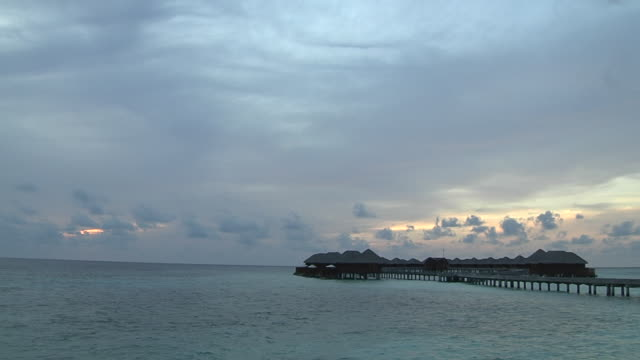 time lapse beach male maldives - pier stock videos & royalty-free footage