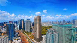 4K Time lapse beautiful building and architecture in tokyo japan