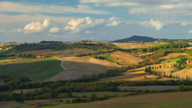 time lapse: beautiful landscape in tuscany, italy - tuscany stock videos and b-roll footage