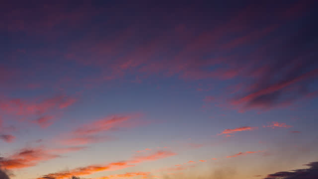 time lapse, beautiful sunset and cloud moving - pink colour stock videos & royalty-free footage