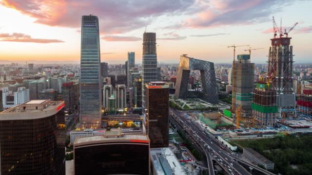 Time Lapse- Beijing CBD and Skyline (WS HA)