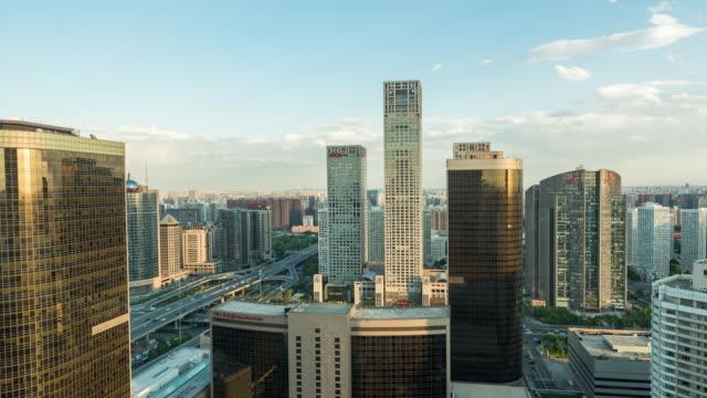 vidéos et rushes de time lapse- beijing cbd area (zoom) - quartier