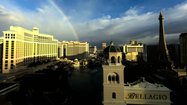 time lapse bellagio resort sin city casino nevada - las vegas replica eiffel tower stock videos & royalty-free footage