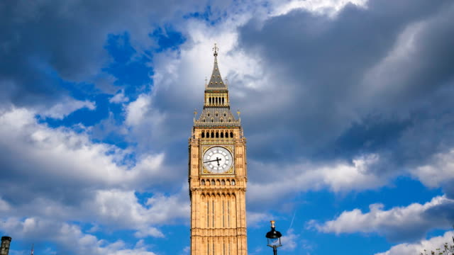 4K time lapse Big Ben and Westminster abbey in London, UK