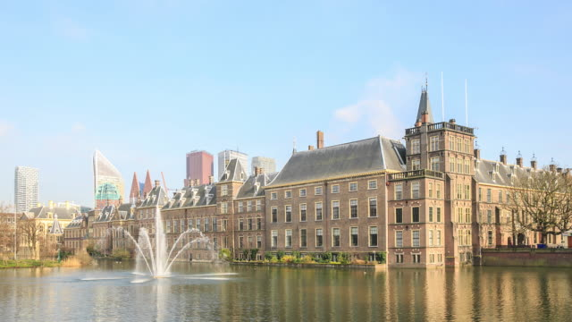 4k time lapse : binnenhof palace - binnenhof stock videos and b-roll footage