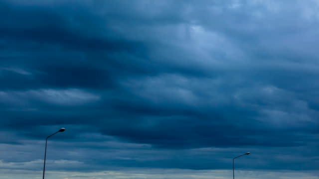 time lapse : black storm clouds before raining - storm cloud stock videos & royalty-free footage