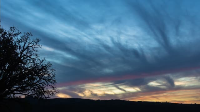 time lapse blue hour in lavalleja department, uruguay - sedative stock videos & royalty-free footage