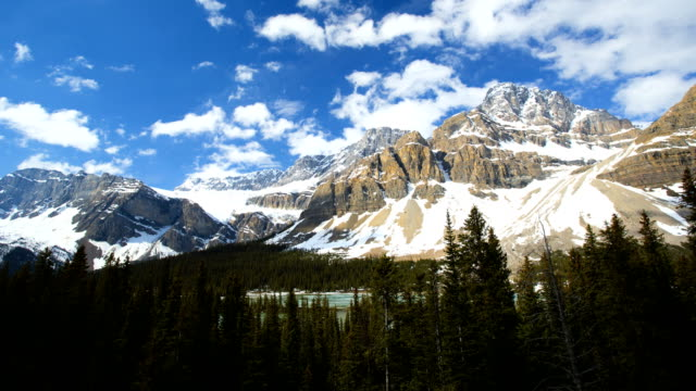 Time Lapse Blue Sky Clouds Mountains Blue Lakes