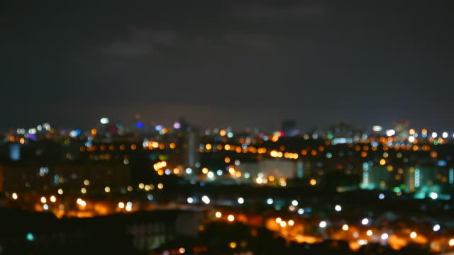 Time lapse bokeh city light