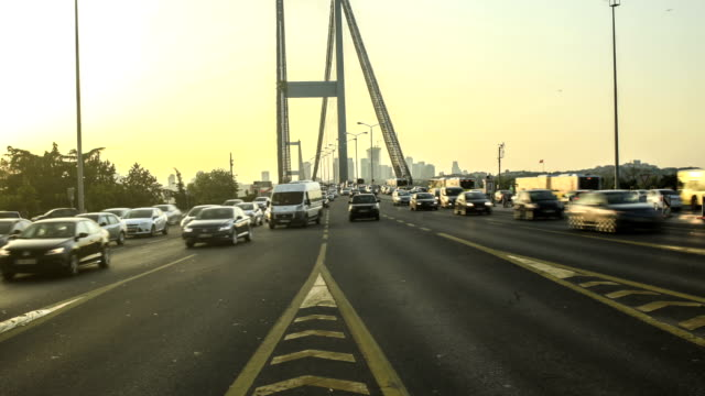 hd time lapse bosphorus bridge - july 15 martyrs' bridge stock videos and b-roll footage